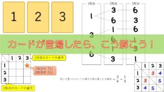アイキャッチ_【中学2年数学(確率)】カードが登場する確率の問題の解き方
